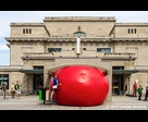 Red Ball at Jean-Talon Train Station 1