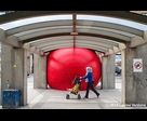 Red Ball at Jean-Talon Train Station 2