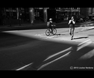 Cyclist and Conversation in the Light