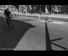Shadows and cyclist