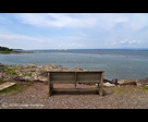 Bench and St-Lawrence River